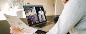 Business team in video conference
