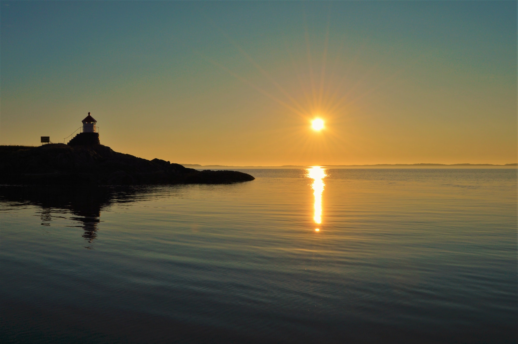 Lighthouse in the sunset, Kjerringøy - North of Norway
