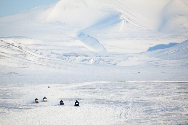 Snowmobile in Svalbard